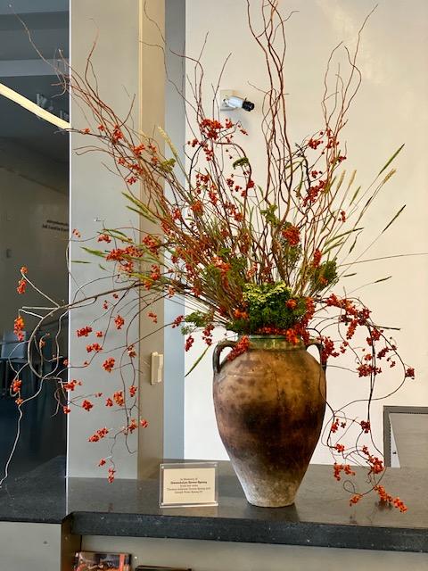 Spang Memorial Flower Arrangement at the Nelson-Atkins Museum